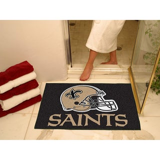Fanmats New Orleans Saints Black Nylon Allstar Rug (2'8 x 3'8)