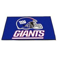 Fanmats New York Giants Blue Nylon Allstar Rug (2'8 x 3'8)