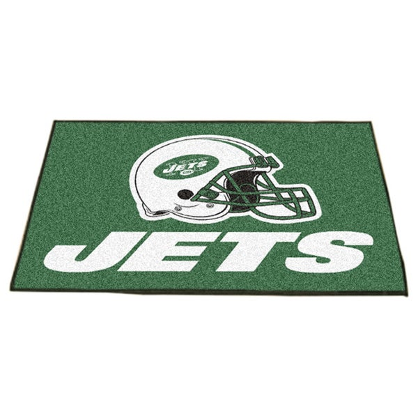 Fanmats New York Jets Green Nylon Allstar Rug (2'8 x 3'8)