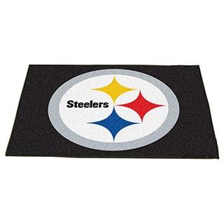 Fanmats Pittsburgh Steelers Black Nylon Allstar Rug (2'8 x 3'8)