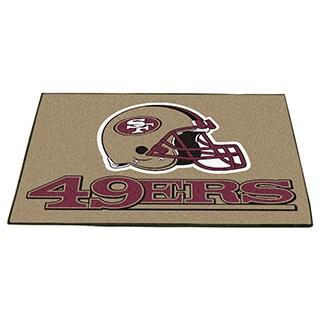 Fanmats San Francisco 49ers Gold Nylon Allstar Rug (2'8 x 3'8)