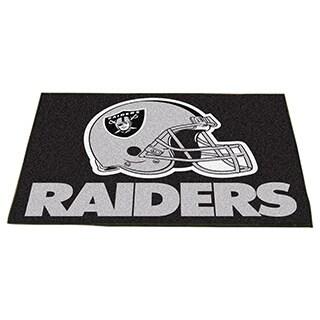 Fanmats Oakland Raiders Black Nylon Allstar Rug (2'8 x 3'8)