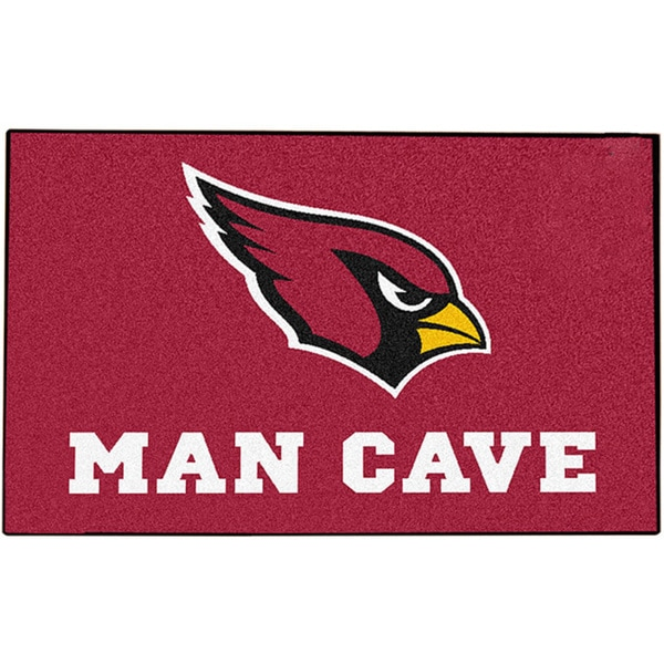 Fanmats Arizona Cardinals Red Nylon Man Cave Allstar Rug (2'8 x 3'8)