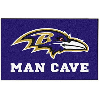 Fanmats Baltimore Ravens Black Nylon Man Cave Allstar Rug (2'8 x 3'8)