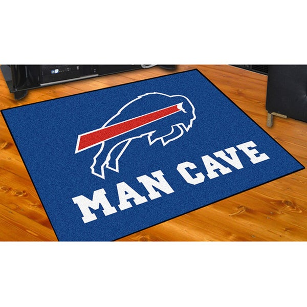 Shop Fanmats Buffalo Bills Blue Nylon Man Cave Allstar Rug
