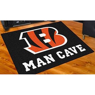 Fanmats Cincinnati Bengals Black Nylon Man Cave Allstar Rug (2'8 x 3'8)