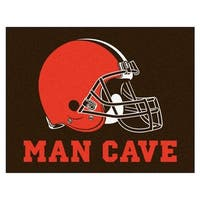 Fanmats Cleveland Browns Black Nylon Man Cave Allstar Rug (2'8 x 3'8)