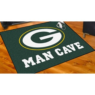 Fanmats Green Bay Packers Green Nylon Man Cave Allstar Rug (2'8 x 3'8)