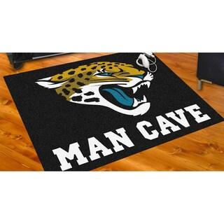Fanmats Jacksonville Jaguars Black Nylon Man Cave Allstar Rug (2'8 x 3'8)