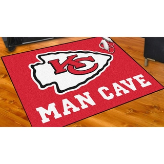 Fanmats Kansas City Chiefs Red Nylon Man Cave Allstar Rug (2u00278 X 3