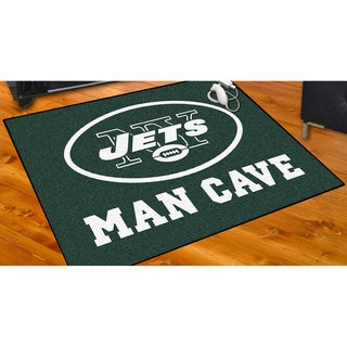 Fanmats New York Jets Green Nylon Man Cave Allstar Rug (2'8 x 3'8)