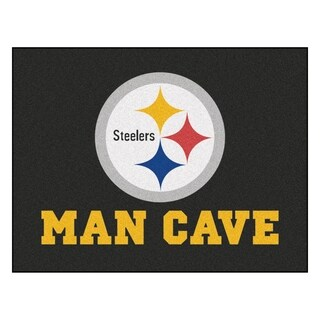 Fanmats Pittsburgh Steelers Black Nylon Man Cave Allstar Rug (2'8 x 3'8)