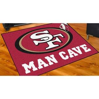 Fanmats San Francisco 49ers Gold Nylon Man Cave Allstar Rug (2'8 x 3'8)