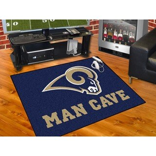 Fanmats Los Angeles Rams Blue Nylon Man Cave Allstar Rug (2'8 x 3'8)
