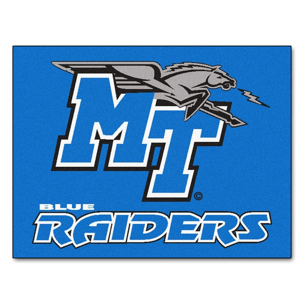 Fanmats Middle Tennessee State University Blue Nylon Allstar Rug (2'8 x 3'8)