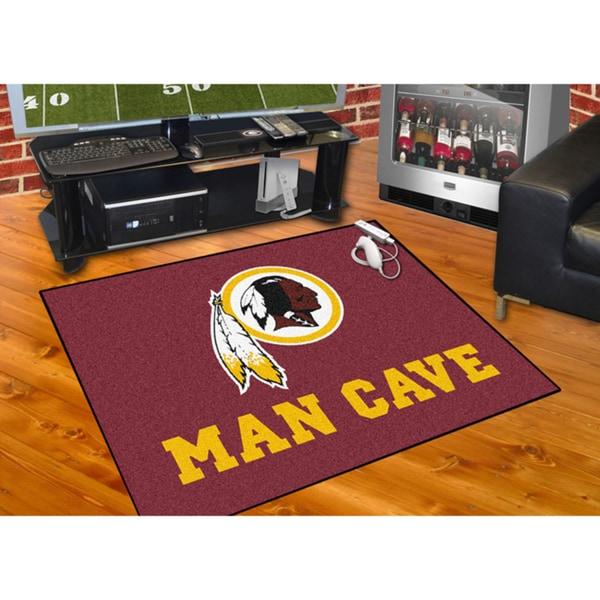 Fanmats Washington Redskins Burgundy Nylon Man Cave Allstar Rug (2'8 x 3'8)