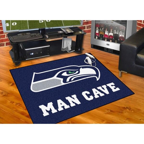 Fanmats Seattle Seahawks Blue Nylon Man Cave Allstar Rug (2'8 x 3'8)
