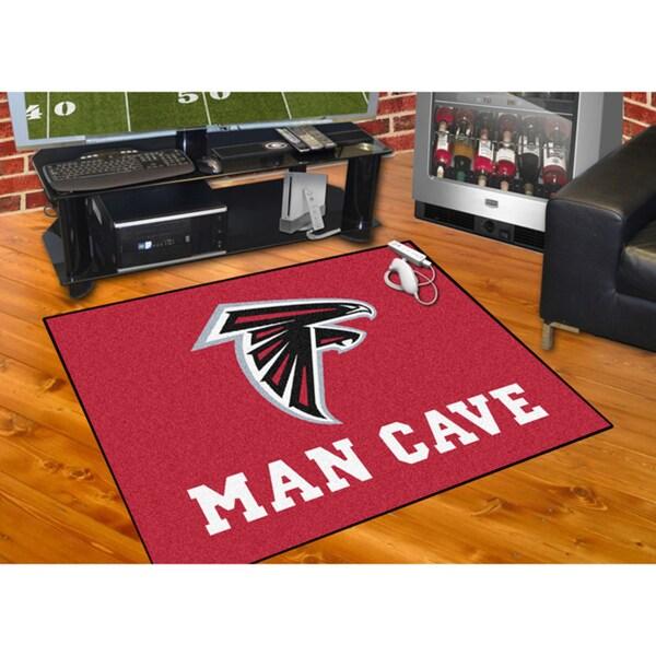 Fanmats Atlanta Falcons Red Nylon Man Cave Allstar Rug (2'8 x 3'8)