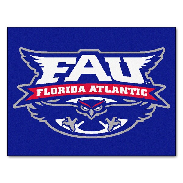 Fanmats Florida Atlantic University Blue Nylon Allstar Rug (2'8 x 3'8)