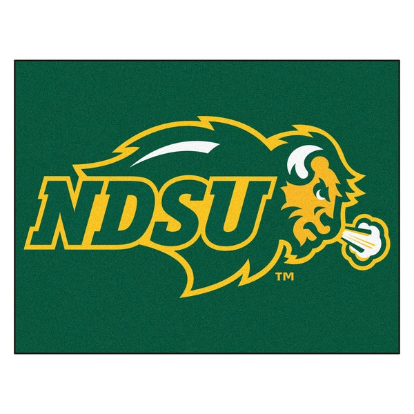 Fanmats North Dakota State University Green Nylon Allstar Rug (2'8 x 3'8)
