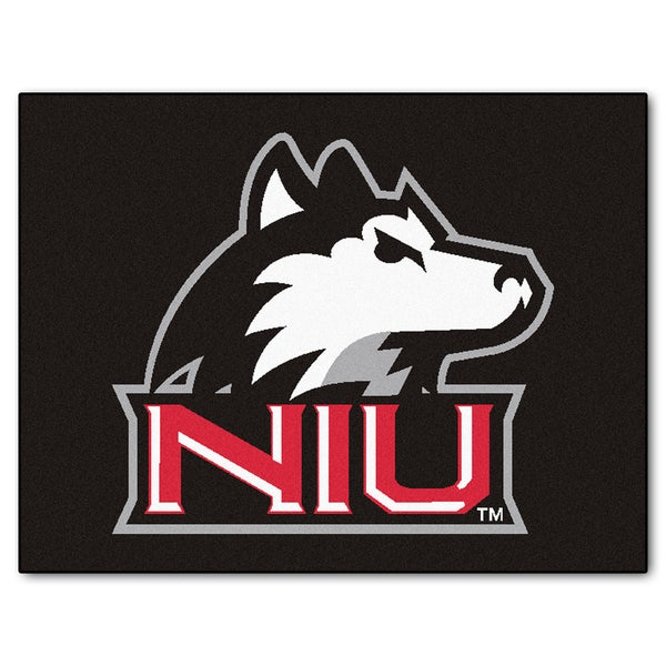 Fanmats Northern Illinois University Black Nylon Allstar Rug (2'8 x 3'8)