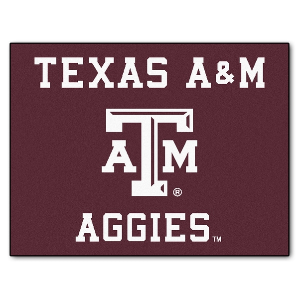 Fanmats Texas A&M University Burgundy Nylon Allstar Rug (2'8 x 3'8)