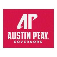 Fanmats Austin Peay State University Red Nylon Allstar Rug (2'8 x 3'8)