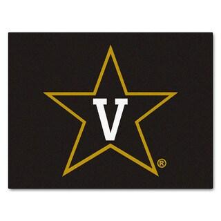 Fanmats Vanderbilt University Black Nylon Allstar Rug (2'8 x 3'8)