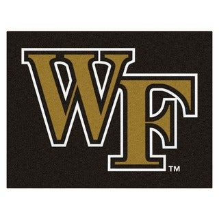 Fanmats Wake ForeSt. University Black Nylon Allstar Rug (2'8 x 3'8)