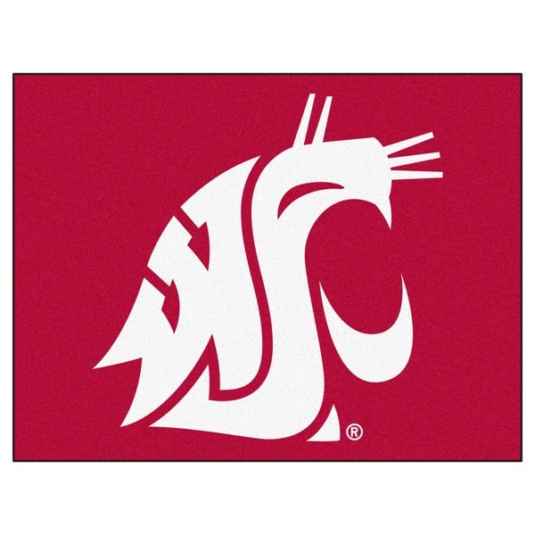 Fanmats Washington State University Grey Nylon Allstar Rug (2'8 x 3'8)
