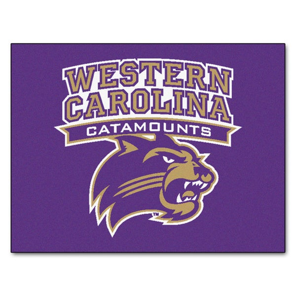 Fanmats Western Carolina University Blue Nylon Allstar Rug (2'8 x 3'8)
