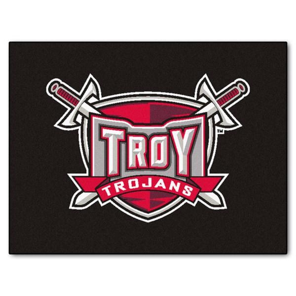 Fanmats Troy State University Black Nylon Allstar Rug (2'8 x 3'8)