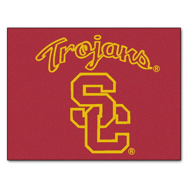 Fanmats University of Southern California Red Nylon Allstar Rug (2'8 x 3'8)
