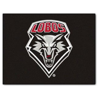 Fanmats University of New Mexico Black Nylon Allstar Rug (2'8 x 3'8)