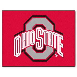 Fanmats Ohio State University Red Nylon Allstar Rug (2'8 x 3'8)