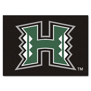 Fanmats University of Hawaii Black Nylon Allstar Rug (2'8 x 3'8)