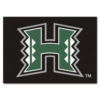 Fanmats University of Hawaii Black Nylon Allstar Rug (2'8 x 3'8)