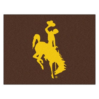 Fanmats University of Wyoming Brown Nylon Allstar Rug (2'8 x 3'8)