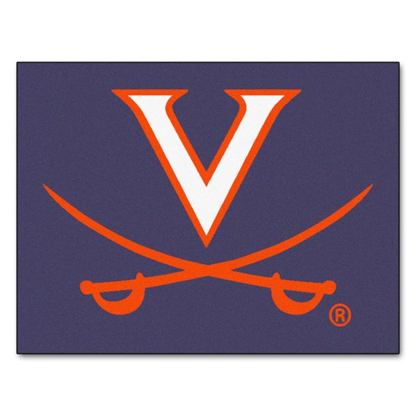 Fanmats University of Virginia Blue Nylon Allstar Rug (2'8 x 3'8)