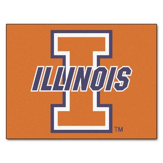 Fanmats University of Illinois Blue Nylon Allstar Rug (2'8 x 3'8)