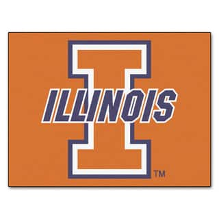 Fanmats University of Illinois Blue Nylon Allstar Rug (2'8 x 3'8)|https://ak1.ostkcdn.com/images/products/10031732/P17176880.jpg?impolicy=medium