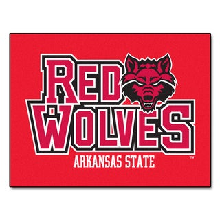 Fanmats Arkansas State University Red Nylon Allstar Rug (2'8 x 3'8)