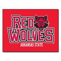 Fanmats Arkansas State University Red Nylon Allstar Rug (2'8 x 3'8)