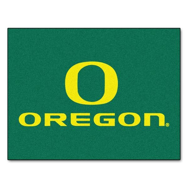 Fanmats University of Oregon Green Nylon Allstar Rug (2'8 x 3'8)