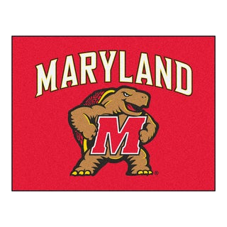 Fanmats University of Maryland Red Nylon Allstar Rug (2'8 x 3'8)