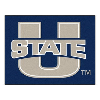 Fanmats Utah State University Blue Nylon Allstar Rug (2'8 x 3'8)