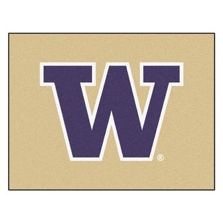 Fanmats University of Washington Gold Nylon Allstar Rug (2'8 x 3'8)