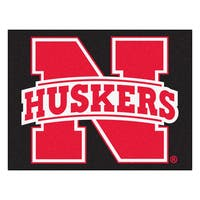 Fanmats University of Nebraska Black Nylon Allstar Rug (2'8 x 3'8)