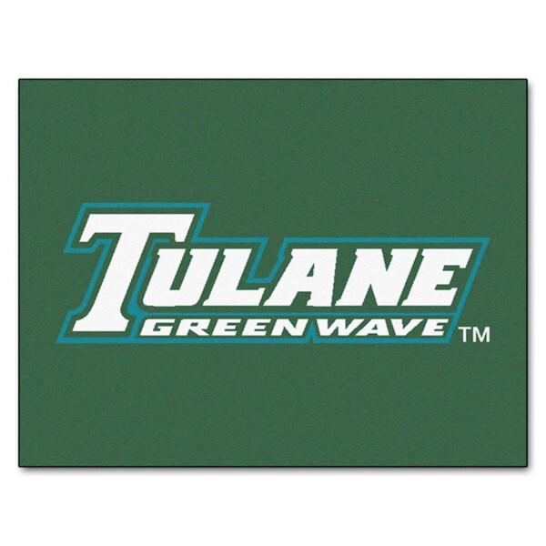 Fanmats Tulane University Green Nylon Allstar Rug (2'8 x 3'8)
