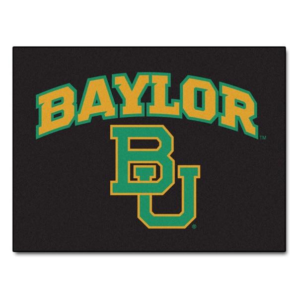 Fanmats Baylor University Black Nylon Allstar Rug (2'8 x 3'8)